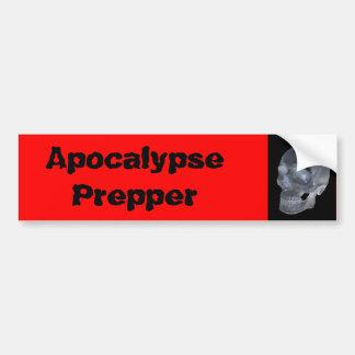 黙示録のprepperのバンパーステッカー バンパーステッカー