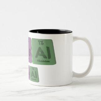 鼻NようにAl窒素ヒ素Aluminium.png ツートーンマグカップ