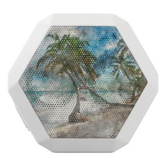 龍涎香Cayeベリセのヤシの木 ホワイトBluetoothスピーカー