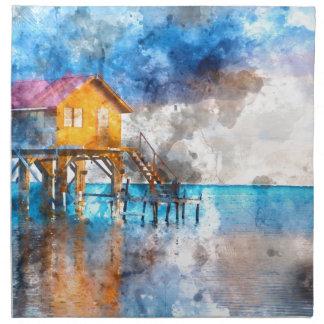 龍涎香Caye Belize_の海の家 ナプキンクロス