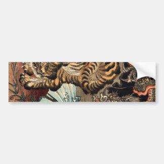 龍虎、国芳のトラ及びドラゴン、Kuniyoshi、Ukiyo-e バンパーステッカー