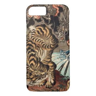 龍虎、国芳のトラ及びドラゴン、Kuniyoshi、Ukiyo-e iPhone 8/7ケース