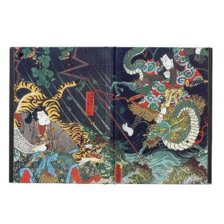龍虎、豊国のドラゴン及びトラ、Toyokuni、Ukiyo-e
