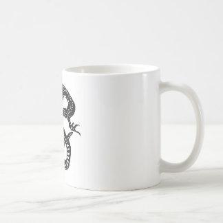 龍 切り絵 DRAGON デザイン 竜 コーヒーマグカップ