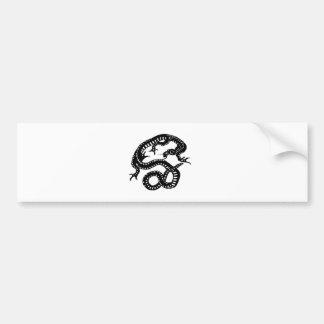 龍 切り絵 DRAGON デザイン 竜 バンパーステッカー