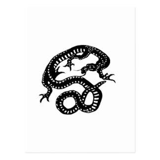 龍 切り絵 DRAGON デザイン 竜 ポストカード