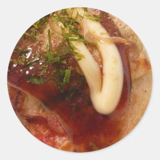 Takoyaki sticker ラウンドシール