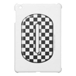 0のチェック模様のモータースポーツ数 iPad MINI CASE