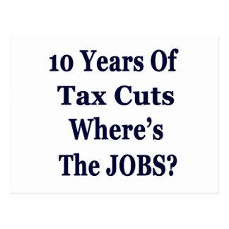 ! 0年間の豊かののためのブッシュの減税 ポストカード