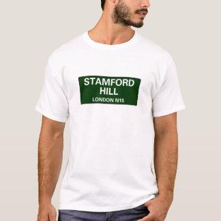 000の道路標識-ロンドン- STAMFORDの丘N15 Tシャツ