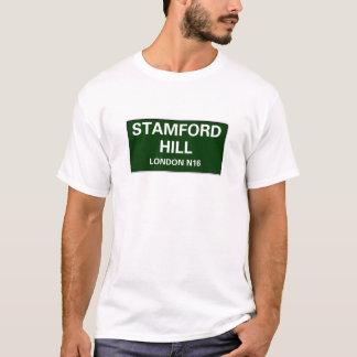 000の道路標識-ロンドン- STAMFORDの丘N16 Tシャツ