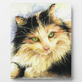 0010茶色のぶち猫 フォトプラーク