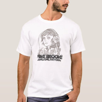 001、マイクBrooke、.live.love.tattoos. Tシャツ