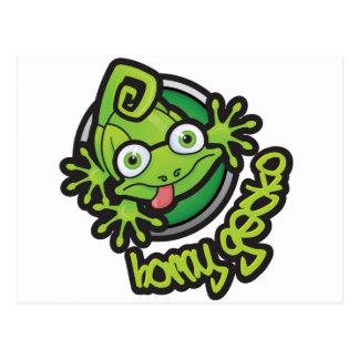 01角質のヤモリのロゴ色 ポストカード