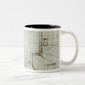 01147ルートビッヒウィルヘルムのBaden 1705年の計算 ツートーンマグカップ