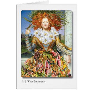 03人の皇后のタロットの挨拶状 カード