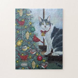 0417クリスマス猫 ジグソーパズル