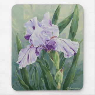 0440の紫色のアイリス マウスパッド
