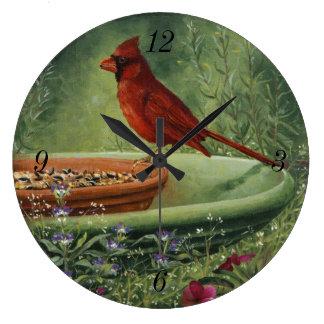 0487人の(鳥)ショウジョウコウカンチョウの時計 ラージ壁時計