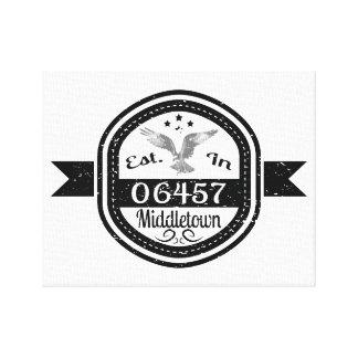 06457 Middletownに確立される キャンバスプリント