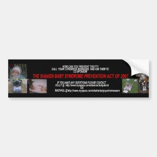 07の揺すられたベビーシンドロームの防止の行為 バンパーステッカー