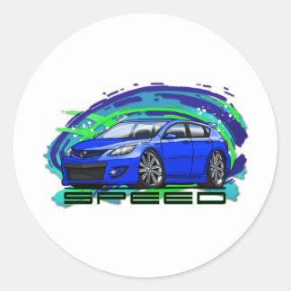07-09 Speed3_Blue ラウンドシール