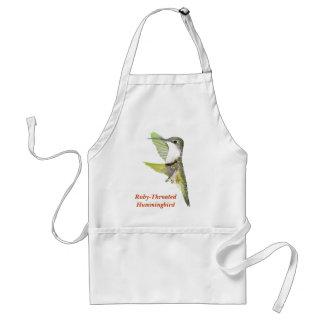 07-20-06 Hummingbirds0033ac、ルビーThroated Humm… スタンダードエプロン