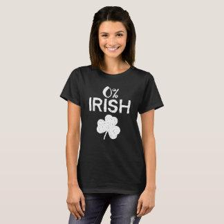 0%のアイルランド語-おもしろいなSt patricks day Tシャツ
