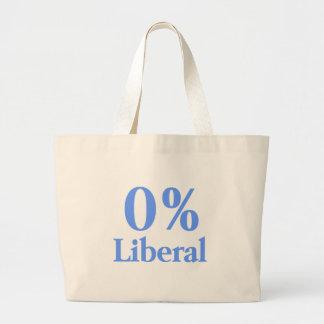 0%の自由主義のな青 ラージトートバッグ