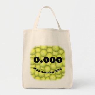 0.000、完全な開始、それは開始犬の事です! トートバッグ