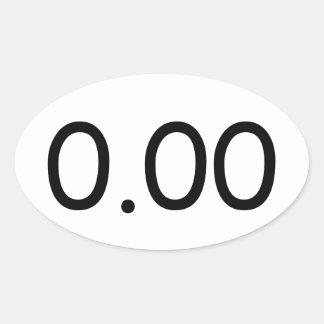 0.00 楕円形シール