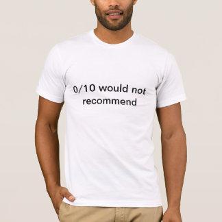 0/10 Tシャツ