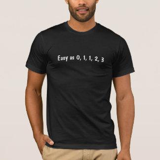 0、1、1、2、3として簡単 Tシャツ