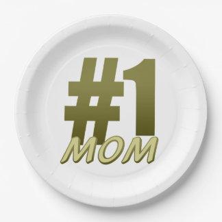 #1お母さんの母の日の紙皿 ペーパープレート