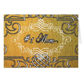 #1お母さんの金タイポグラフィの母の日 カード