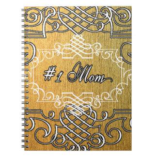 #1お母さんの金タイポグラフィの母の日 ノートブック