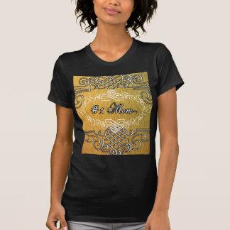 #1お母さんの金タイポグラフィの母の日 Tシャツ