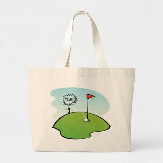 1つのおもしろいなゴルフ・ボールの穴、ゴルファーのギフト ラージトートバッグ