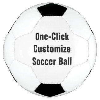 1つのかちりと言う音はデザインをあなた自身のサッカーボール個人化します サッカーボール