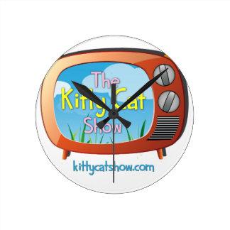 1つのための子猫猫ショーの糖菓およびすべて! ラウンド壁時計