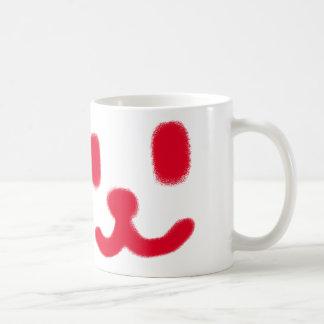 1つのにこやかな赤 コーヒーマグカップ