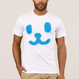 1つのにこやかな青 Tシャツ