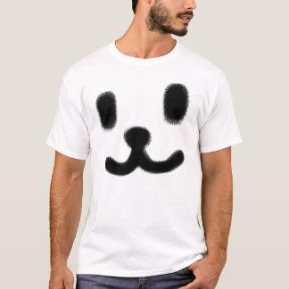 1つのにこやかな黒 Tシャツ