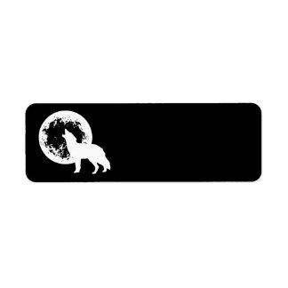 1つのオオカミの月 ラベル
