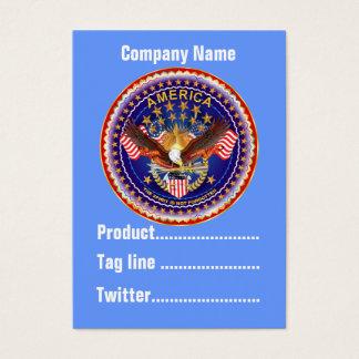 1つのカードビジネスVert忘れられないアメリカ。 ノート 名刺