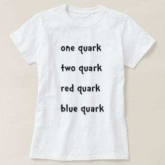 1つのクォーク2のクォークの赤いクォークの青のクォーク Tシャツ