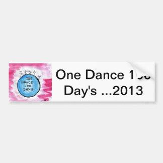 1つのダンス100日の… 2013年 バンパーステッカー