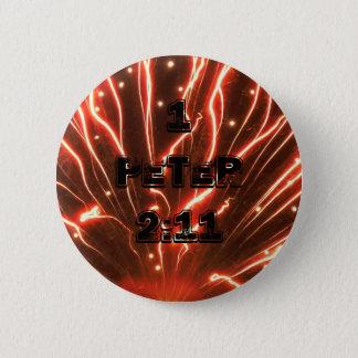 1つのピーターの2:11の花火ボタン 5.7CM 丸型バッジ