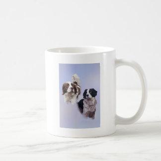 1つのプリントA4 2犬の青19 x 13.jpg コーヒーマグカップ