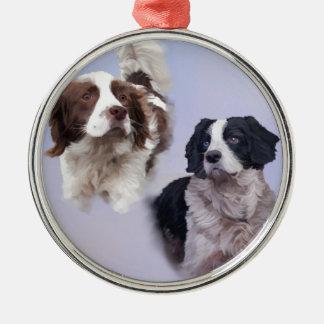 1つのプリントA4 2犬の青19 x 13.jpg メタルオーナメント